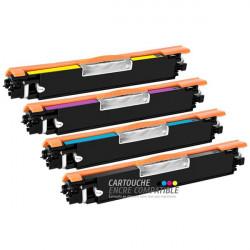 Pack de 4 Toners Laser Compatibles HP CE310A-CE311A-CE312A-CE313A