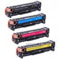 Compatible HP CC530A-CC531A-CC532A-CC533A - 304A Pack