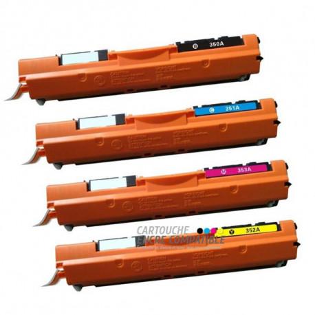 Pack de 4 Toners Laser Compatibles HP CF350A-CF351A-CF352A-CF353A