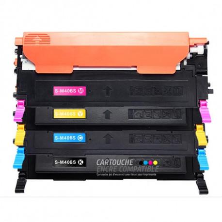 Pack de 4 Toners Laser Compatibles Samsung CLT-K406S