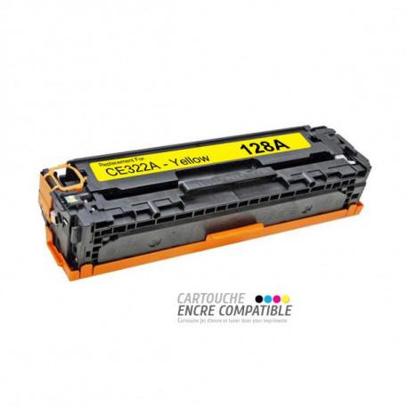 Toner Laser Compatible HP CE322A - 128A Jaune