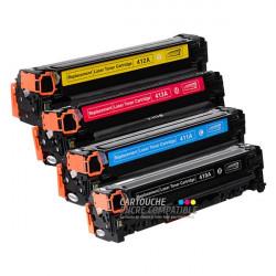 Pack de 4 Toners Laser Compatibles HP CE410A-CE411A-CE412A-CE413A