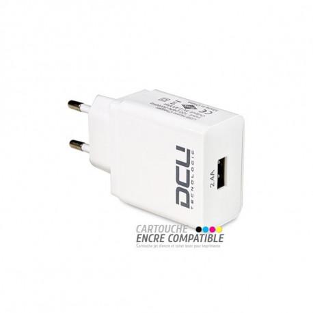 Bloc Secteur USB 5V 2.4A DCU TECNOLOGIC