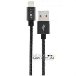 Câble USB pour iPhone DCU Noir 1,5M