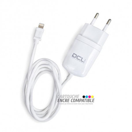 Chargeur Mural pour iPhone DCU Blanc