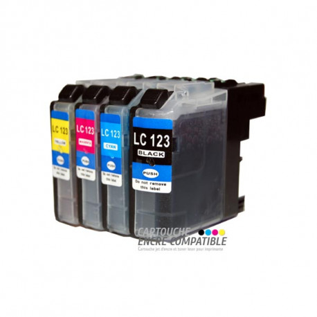 Pack de 4 Cartouches D'encre Compatibles Brother LC123