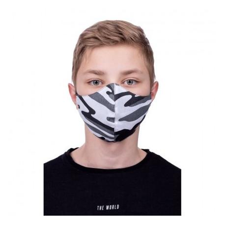 Lot de 3 Masques de Protection profilés 100% Coton Enfant Motif Camouflage
