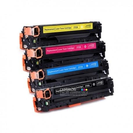 Pack de 4 Toners Laser Compatibles CF210A-CF211A-CF212A-CF213A - 131A