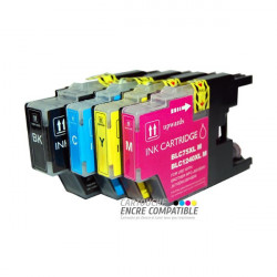 Paquete de 4 cartuchos de tinta compatibles con Brother LC1220-1240-1280