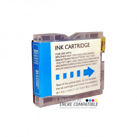 Cartouche D'encre Compatible Brother LC970-1000 Cyan