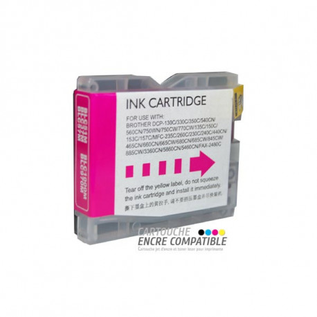 Cartouche D'encre Compatible Brother LC970-1000 Magenta