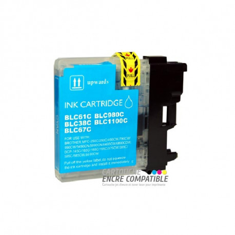 Cartouche D'encre Compatible Brother LC980-1100 Cyan
