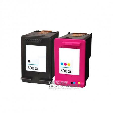 Pack de 2 Cartouches D'encre Remanufacturées HP 300XL