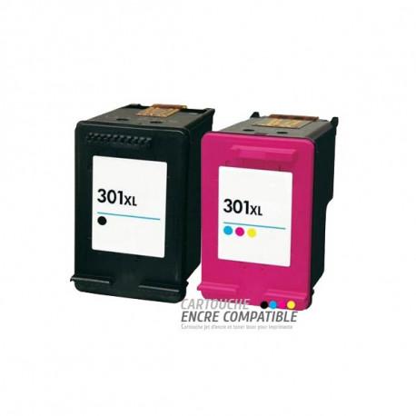 Pack de 2 Cartouches D'encre Remanufacturées HP 301XL