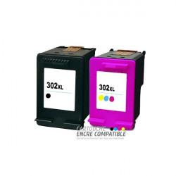 Pack de 2 Cartouches D'encre Remanufacturées HP 302XL