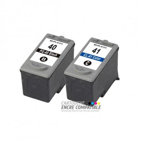 Pack de 2 Cartouches D'encre Remanufacturées PG-40 CLI-41