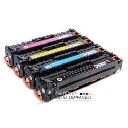 Pack de 4 Toners Laser Compatibles HP CB540A-CB541A-CB542A-CB543A