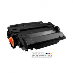 Toner Laser Compatible HP CE255X - 55X Noir